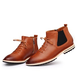 Gradient Color Zippered Martin Boots