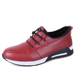 PU Lace-Up Casual Shoes for Men