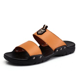 PU Slip-On Beach Sandals