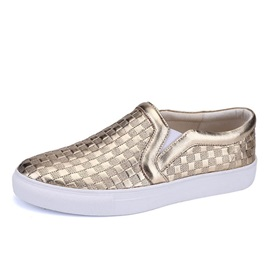 Embossed PU Slip-On Skater Shoes