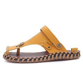 PU Thread Thong Flat Sandals for Men