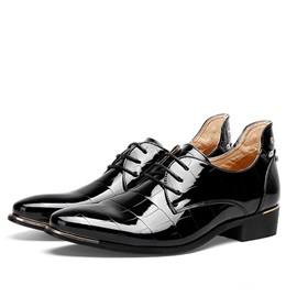 Enameled PU Plain Toe Men's Dress Shoes