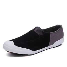 Color Block Round Toe Canvas Shoes