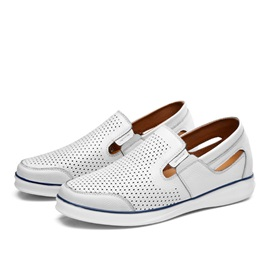 Breathable Round Toe Slip-On Casual Shoes