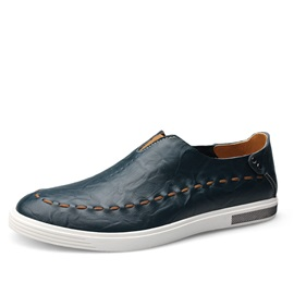 British PU Thread Slip-On Casual Shoes for Men