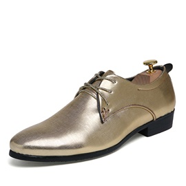 Elegant Plain Toe Lace-Up Dress Shoes for Men