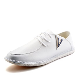 Cozy PU Thread Lace-Up Men's Casual Shoes