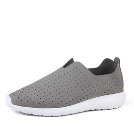 Solid Color PU Hollow Sneakers