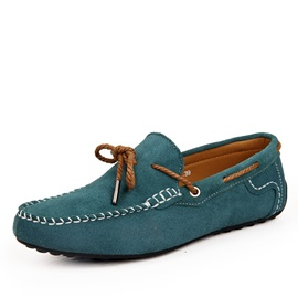 Suede Thread Slip-On Men's Driving Shoes