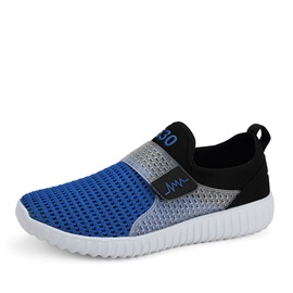 Contrast Color Mesh Velcro Sneakers