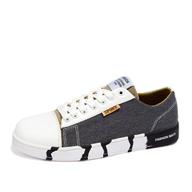 Breathable Round Toe Tie Up Canvas Shoes