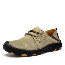 Suede Closed Toe Lace-Up Hiking Shoes