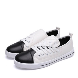 Breathable Color Block Slip-On Skater Shoes