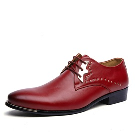 Elegant PU Studded Men's Dress Shoes