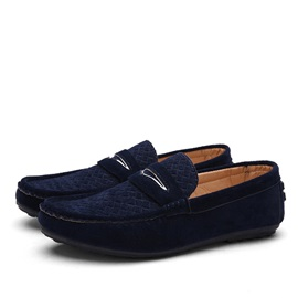 Suede Round Toe Slip-On Loafers