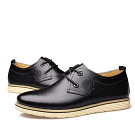 Solid Color PU Plain Toe Casual Shoes for Men
