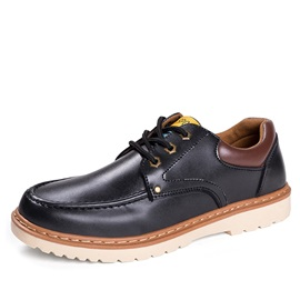 Retro PU Lace-Up Men's Casual Shoes