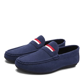 Nubuck Leather Slip-On Plain Casual