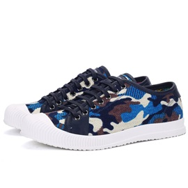 Camouflage Denim Lace-Up Men's Shoes
