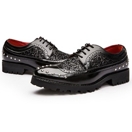 PU Rhinestone Sequin Men's Fashion Shoes