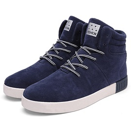 Cheap Nubuck Leather Lace-Up Men's Winter Boots