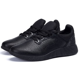 Comfy PU Plain Lace-Up Round Toe Men's Sneakers