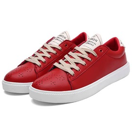 PU Plain Lace-Up Men's Sneakers