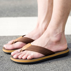 Nylon Plain Slip-On Thong Men's Sandals