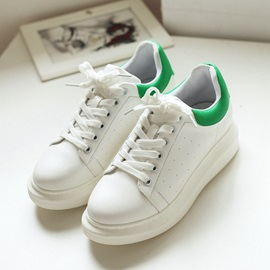 Color Block Lace-Up Women's Sneakers