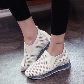 Breathable PU Hollow Slip-On Sneakers