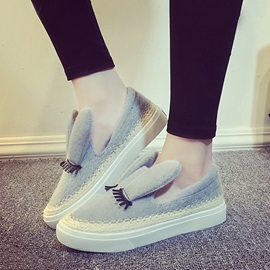 Cute Suede Slip-On Loafers