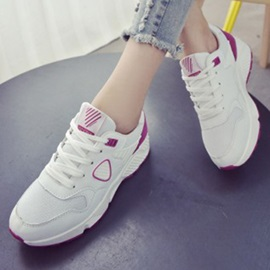 Breathable Contrast Color Round Toe Sneakers
