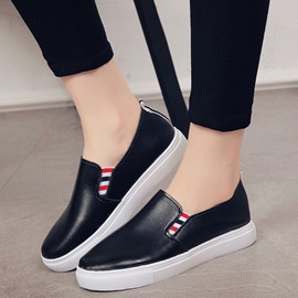 Cheapest PU Slip-On Plain Women's Sneakers