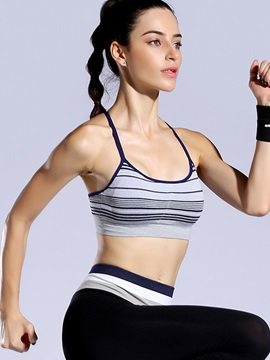 Adjustable Straps Removing Padding Fast Drying Sports Active Bra