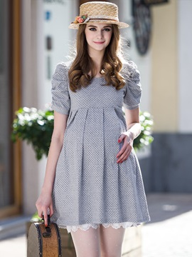 Sweet Little Dot Cotton Maternity Dress