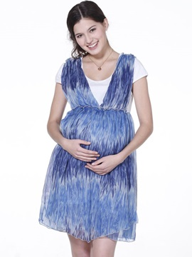 Fashionable Loose Fit Printing Maternity Dress