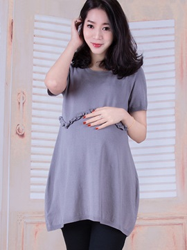 Elegant Knit Loose-Fit Maternity Dress