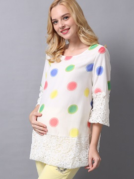 Embroidery Colored Printing Maternity Tops