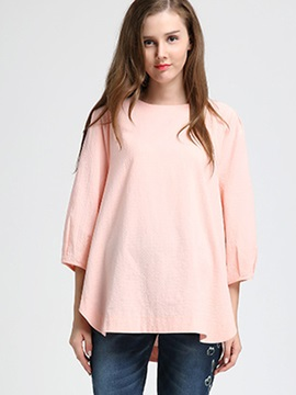 Round-Neck Loose-Fit Maternity T-Shirt