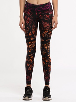 Lycra Printed Women Compression Tights