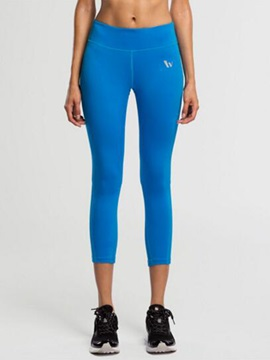 Lycra Solid Color Women Yoga Capris
