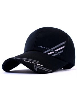 Letters Printed Extended Brim Baseball Hat