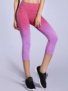 Nylon Dip-Dyed Fast Drying Cropped Yoga Pant