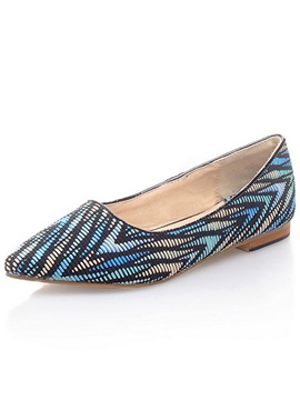New Unique Color Block Point Toe Flats