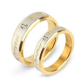 New Nice 'Forever Love' Couple's Rings(Price For A Pair)