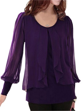 Chic See-Through Sleeves Blouse