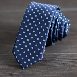 Handsome Polka Dot Decorated Men's Necktie