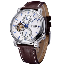 Pin Buckle Pu Band Business Men Watch