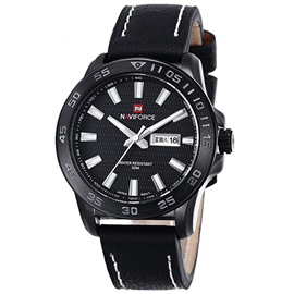 Casual PU Band Waterproof Men's Sport Watch