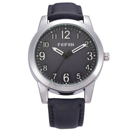 Concise Glass Surface Alloy Cover Men's Watch